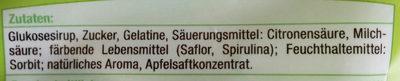 Saure Apfelringe - Ingredients