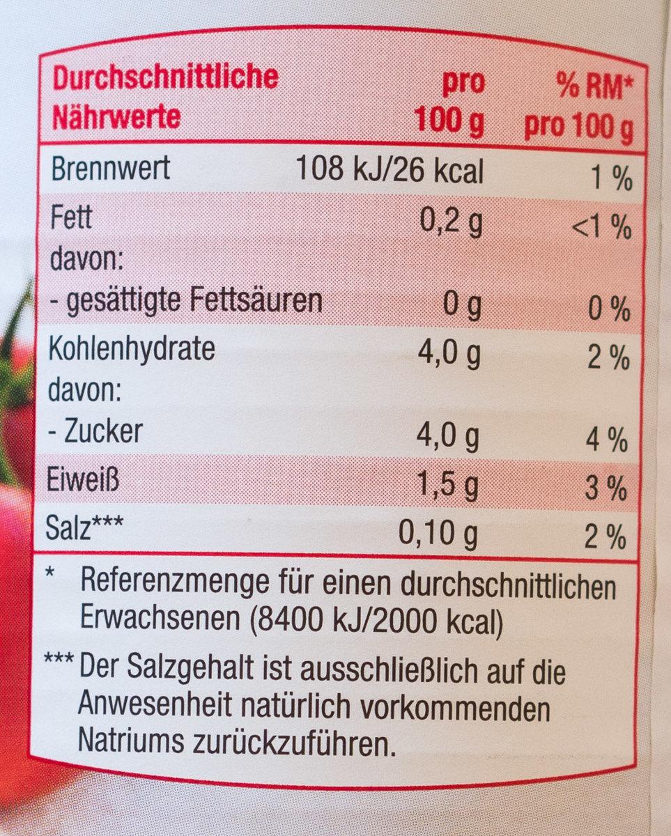 Pizza Tomaten - Informations nutritionnelles - de