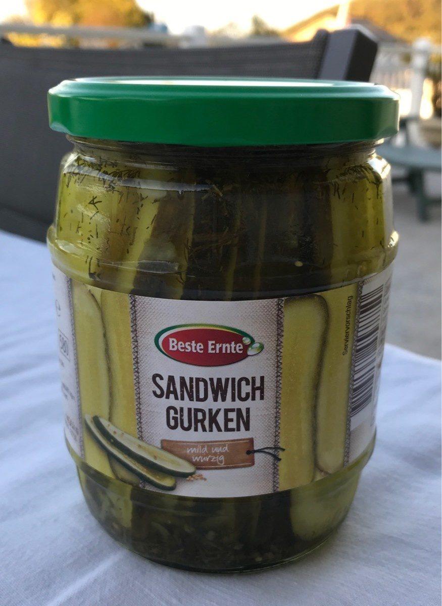 Sandwich Gurken Mild Und Würzig - Produit - fr