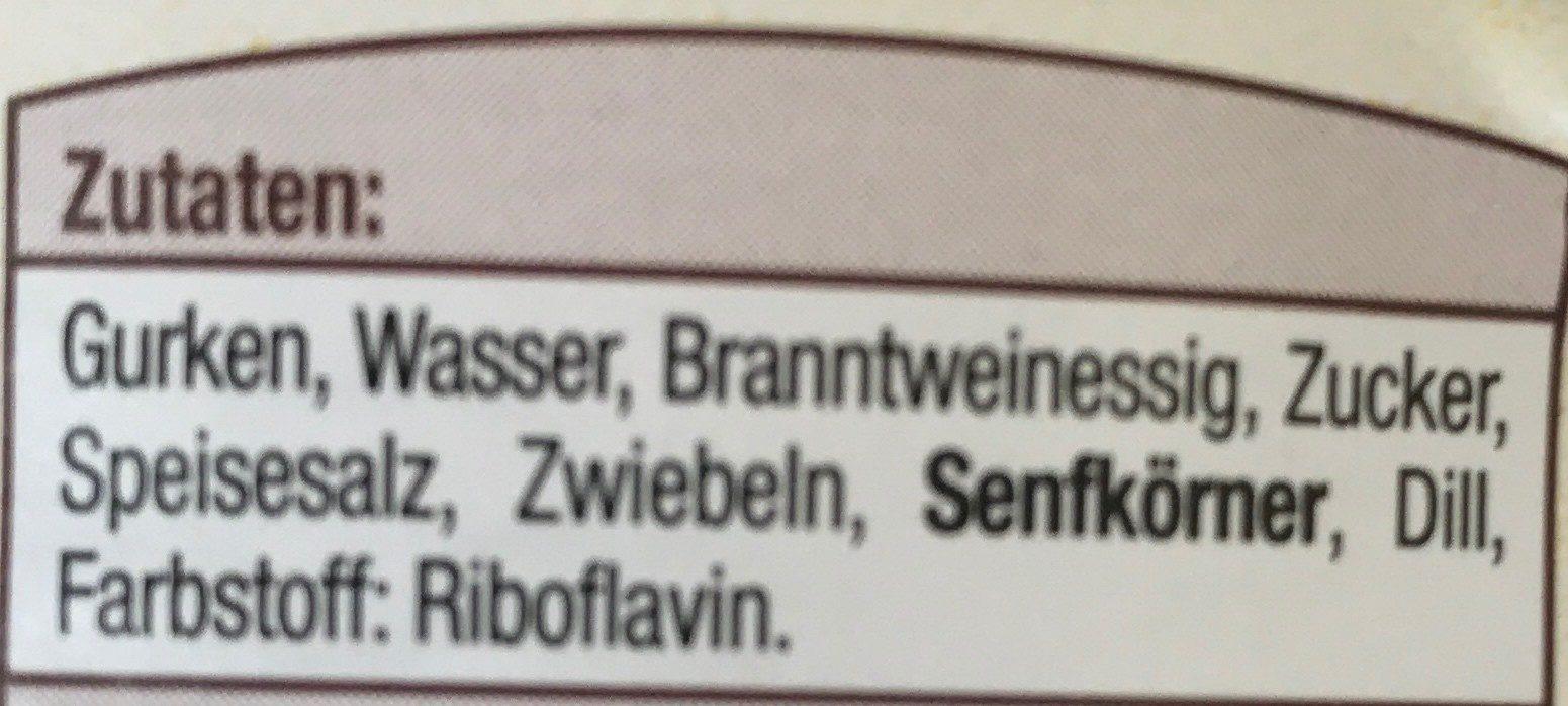 Sandwich Gurken Mild Und Würzig - Ingrédients - fr