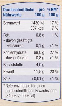 Hartweizen-Grieß - Valori nutrizionali - de