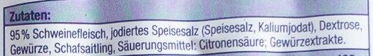 Original Nürnberger Rostbratwürste - Ingrediënten