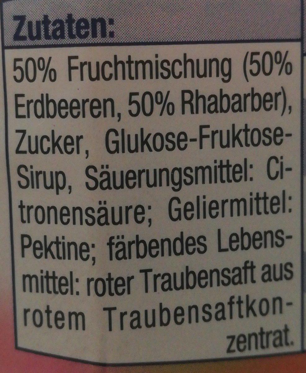 Erdbeer-Rhabarber Konfitüre - Ingrédients - fr