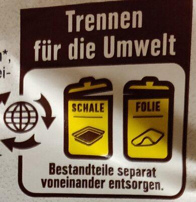 Kochhinterschinken - Wiederverwertungsanweisungen und/oder Verpackungsinformationen - de