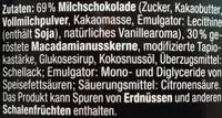 Macadamia Schoko - Ingredients