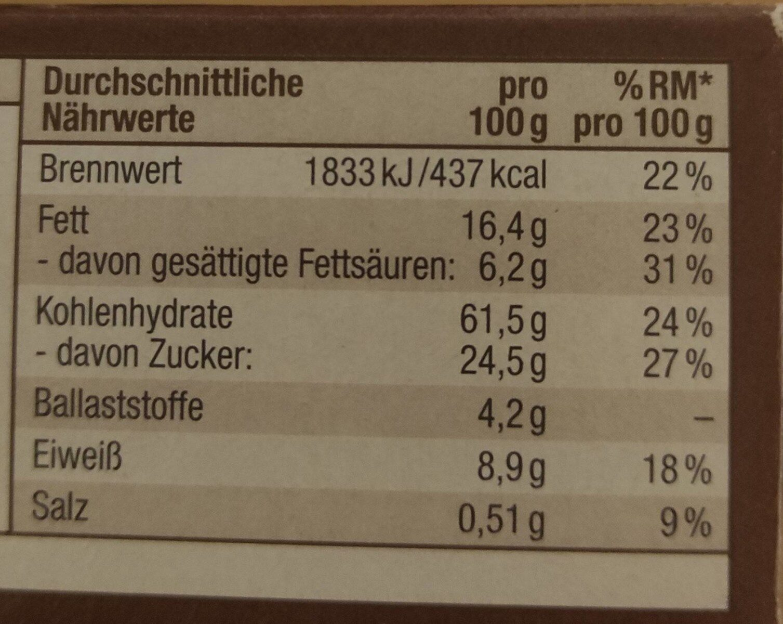 Schoko Müsliriegel - Valori nutrizionali - de