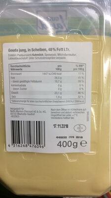 Gutes Land Gouda Jung in Scheiben - Product - de