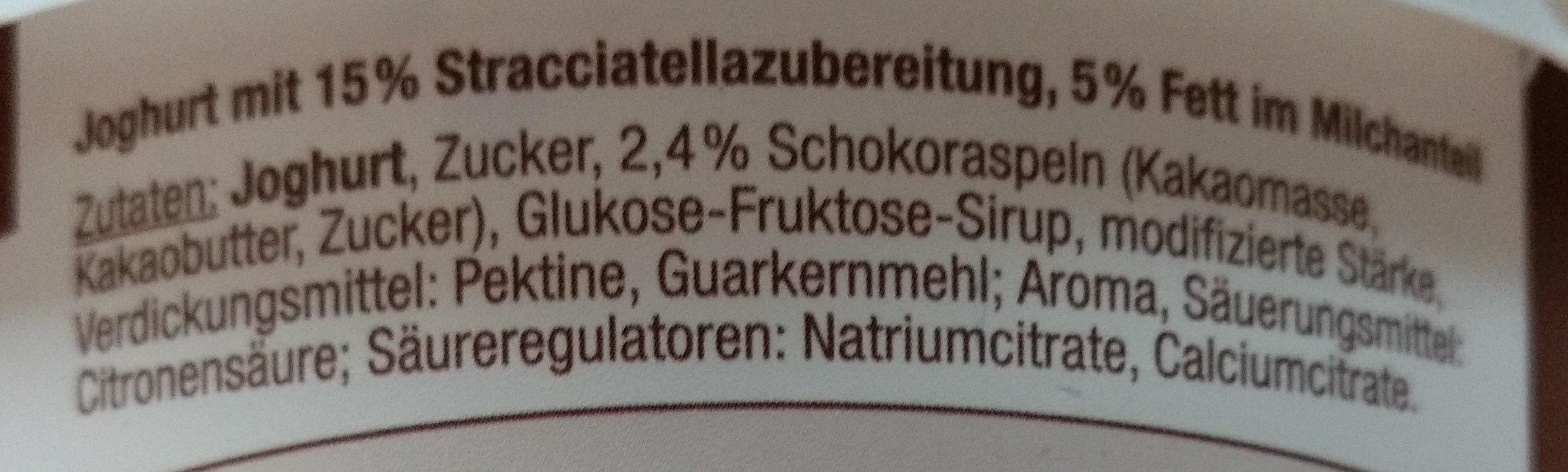 Cremiger Joghurt Stracciatella Gutes Land - Ingredients - de
