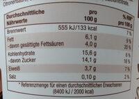 Cremiger Joghurt Stracciatella Gutes Land - Nutrition facts - de