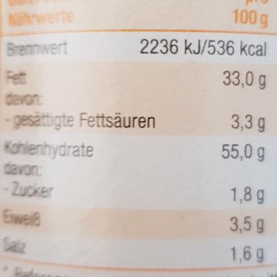Stapel Chips Paprika - Informations nutritionnelles - de