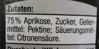 Aprikosenmarmelade - Ingredients - de