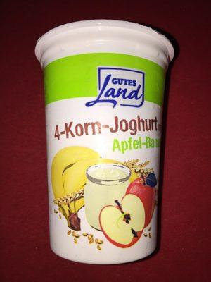 4-Korn-Joghurt mild Apfel-Banane - Produit - fr