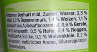 4-Korn-Joghurt mild Apfel-Banane - Ingrédients - fr