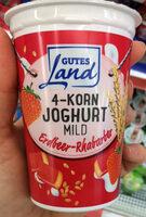 4-Korn Joghurt mild Erdbeer-Rhabarber - Product - de