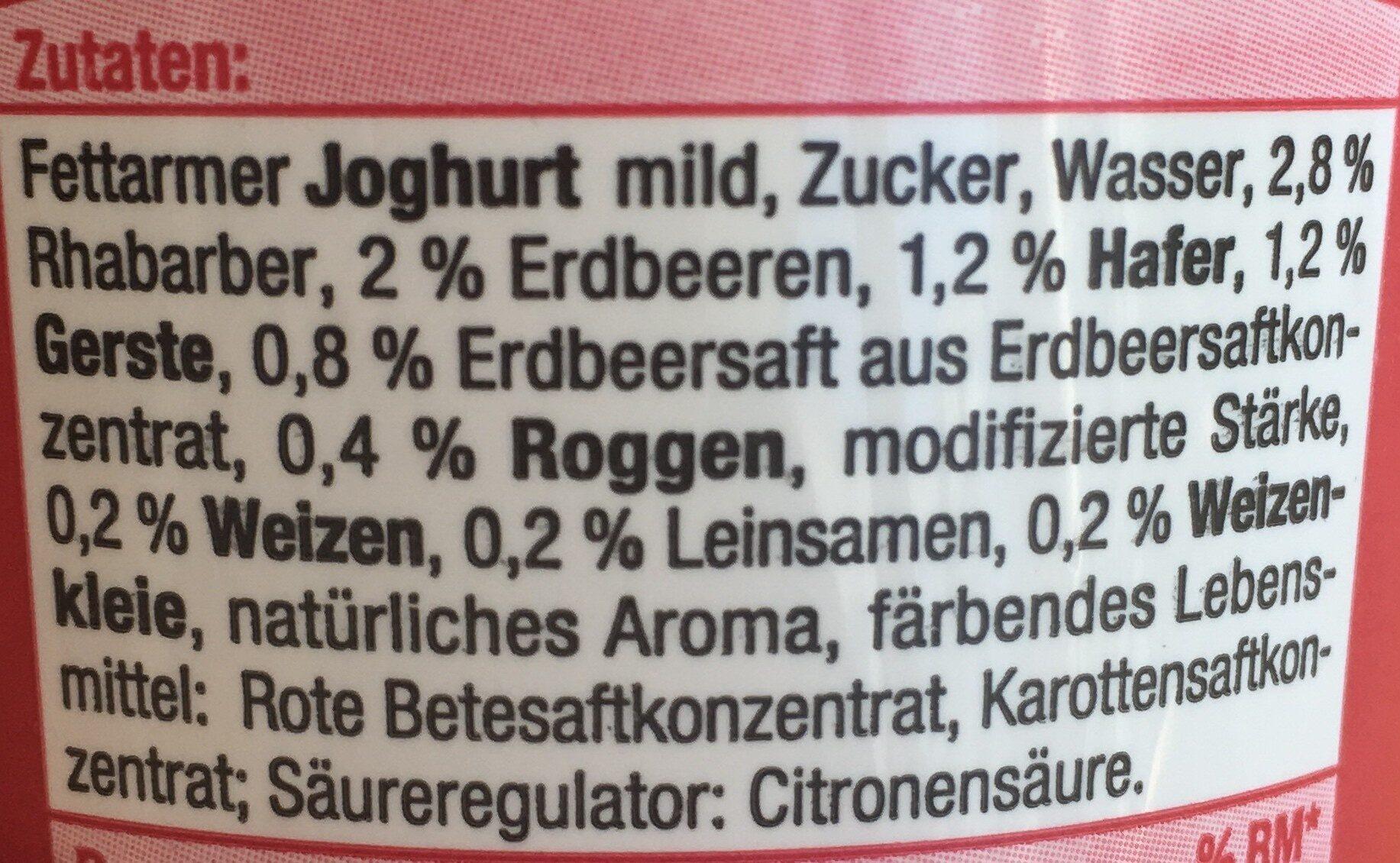4-Korn Joghurt mild Erdbeer-Rhabarber - Ingredients - de