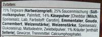 Farfalle mit Käse-Kräuter Sauce - Zutaten - de
