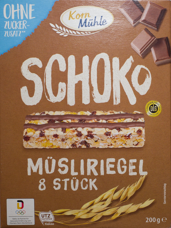 Schoko Müsliriegel ohne Zuckerzusatz - Product - de