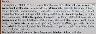 Schoko Müsliriegel - Zutaten - de