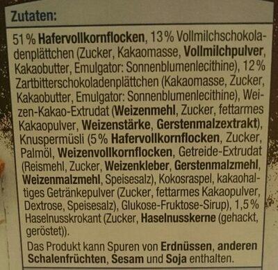 Schoko Müsli - Ingredients