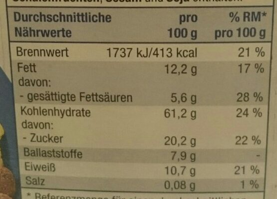 Schoko Müsli - Nutrition facts