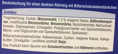 Backmischung für Schoko Muffins - Ingrediënten