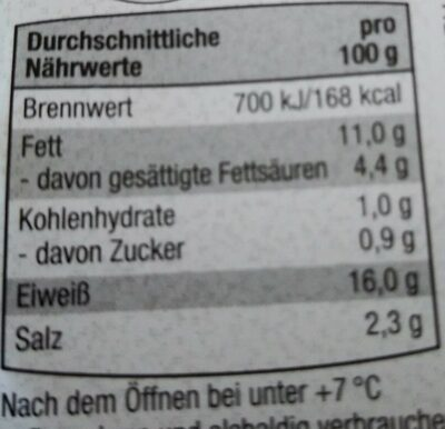 Geflügel-Bierschinken - Informations nutritionnelles - de
