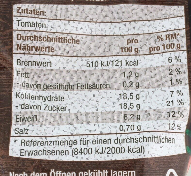 Tomatenmark - Nutrition facts - en
