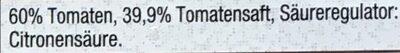 Tomaten, geschält und gehackt - Zutaten - en
