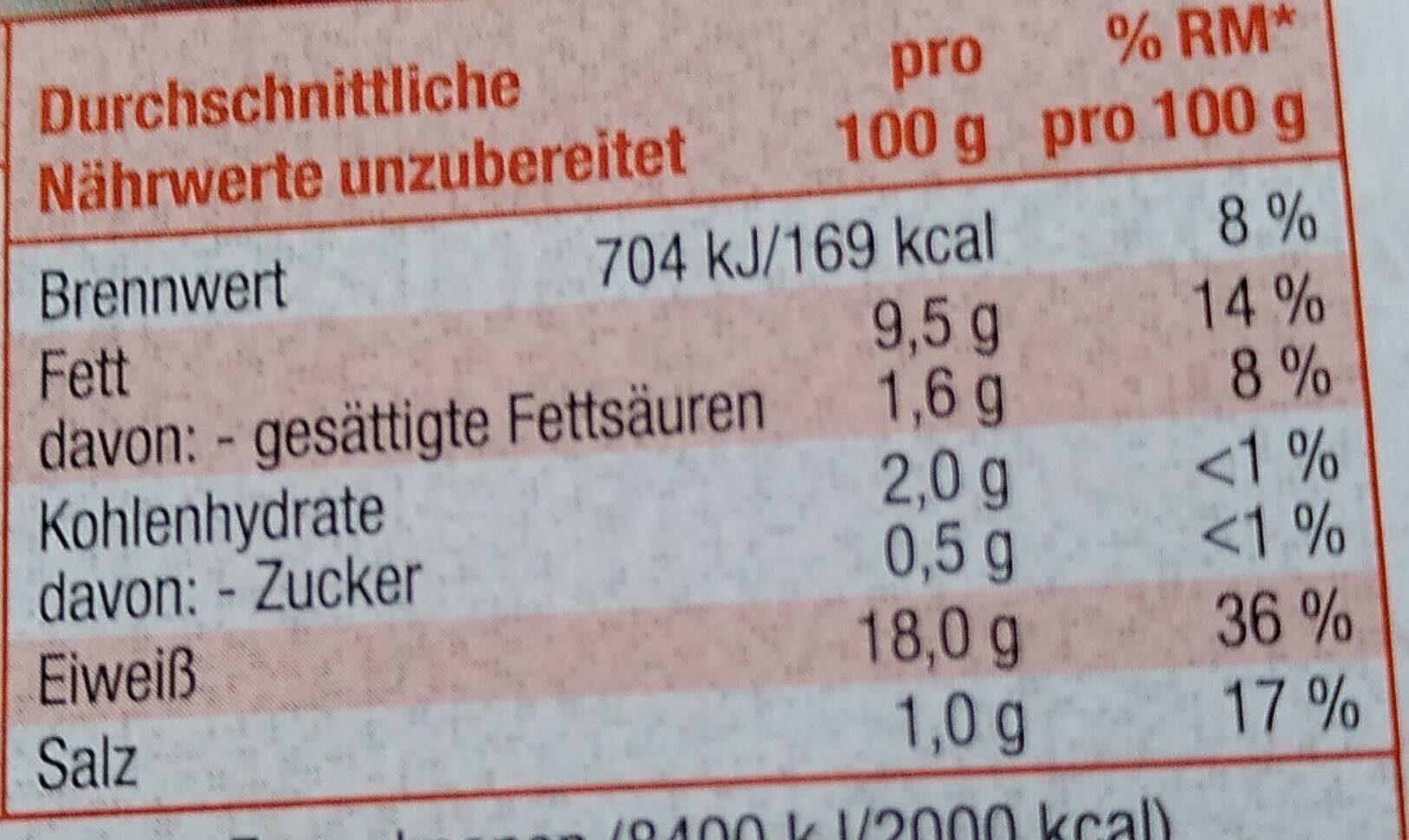 Räucher Tofu - Nährwertangaben - de