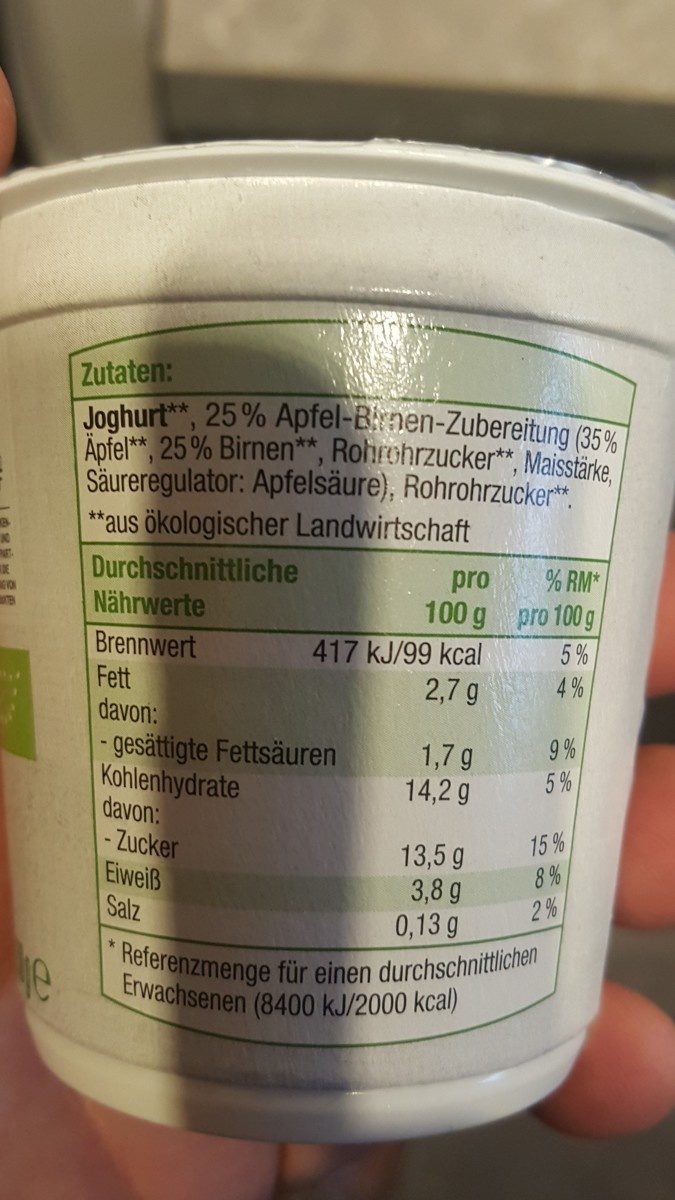 Frucht joghurt - Ingredients