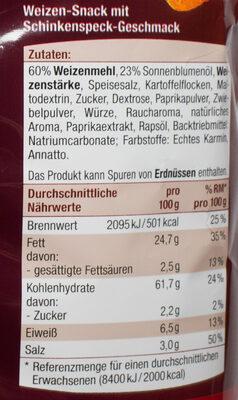 Bacon Snack - Nutrition facts - de
