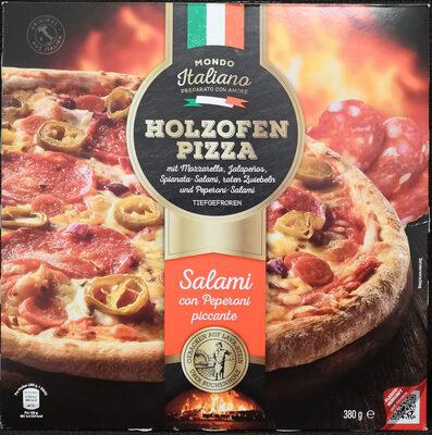 Mondo Italiano Holzofen Pizza Salami con Peperoni piccante - Product - de
