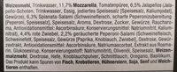 Mondo Italiano Holzofen Pizza Salami con Peperoni piccante - Inhaltsstoffe