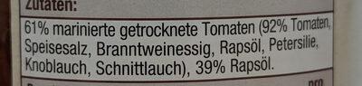 Marinierte, getrocknete Tomaten in Rapsöl - Ingredients - de
