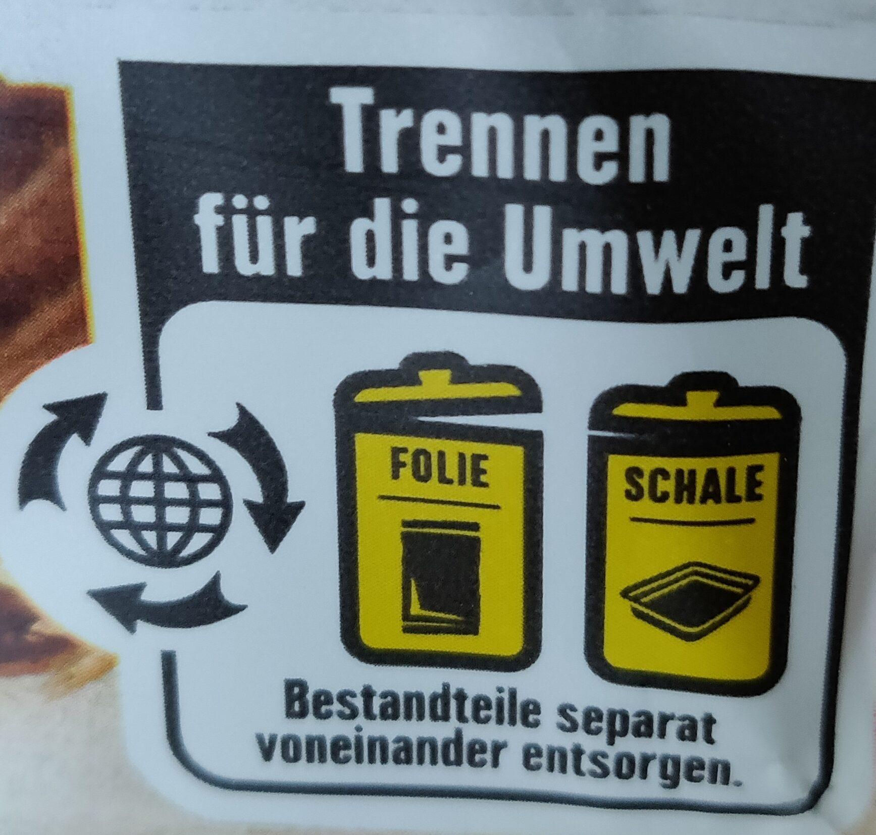Hafercookies - Wiederverwertungsanweisungen und/oder Verpackungsinformationen - de