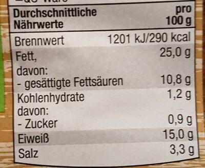 Bauchspeck Geräuchert - Nutrition facts - en