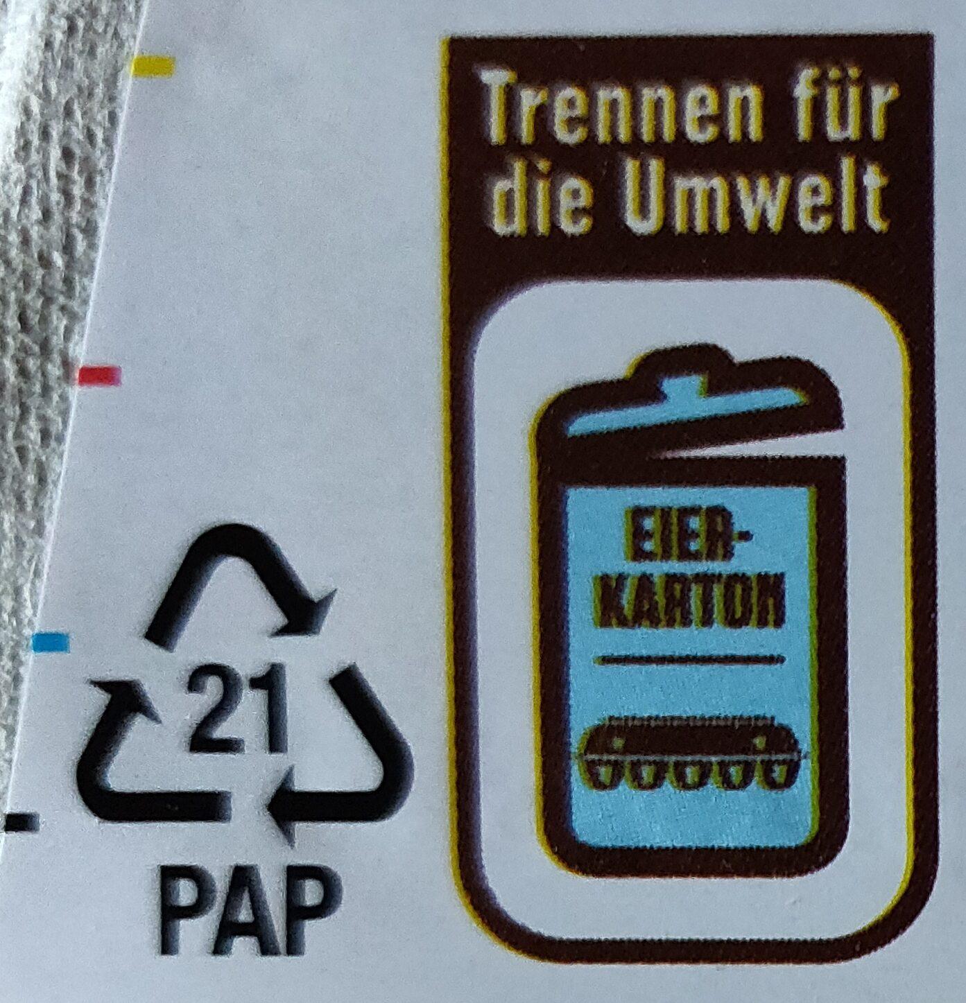 10 deutsche Eier - Instruction de recyclage et/ou informations d'emballage - de