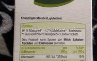 Bio Bio Glutenfrei Knusperbrot - Ingredients - fr