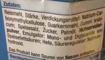 Salzsticks - Ingredientes
