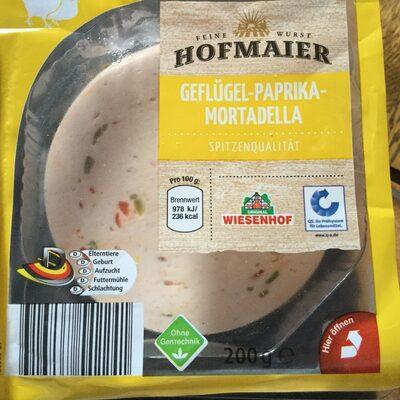 Geflügel Paprika-Mortadella - Produkt - de