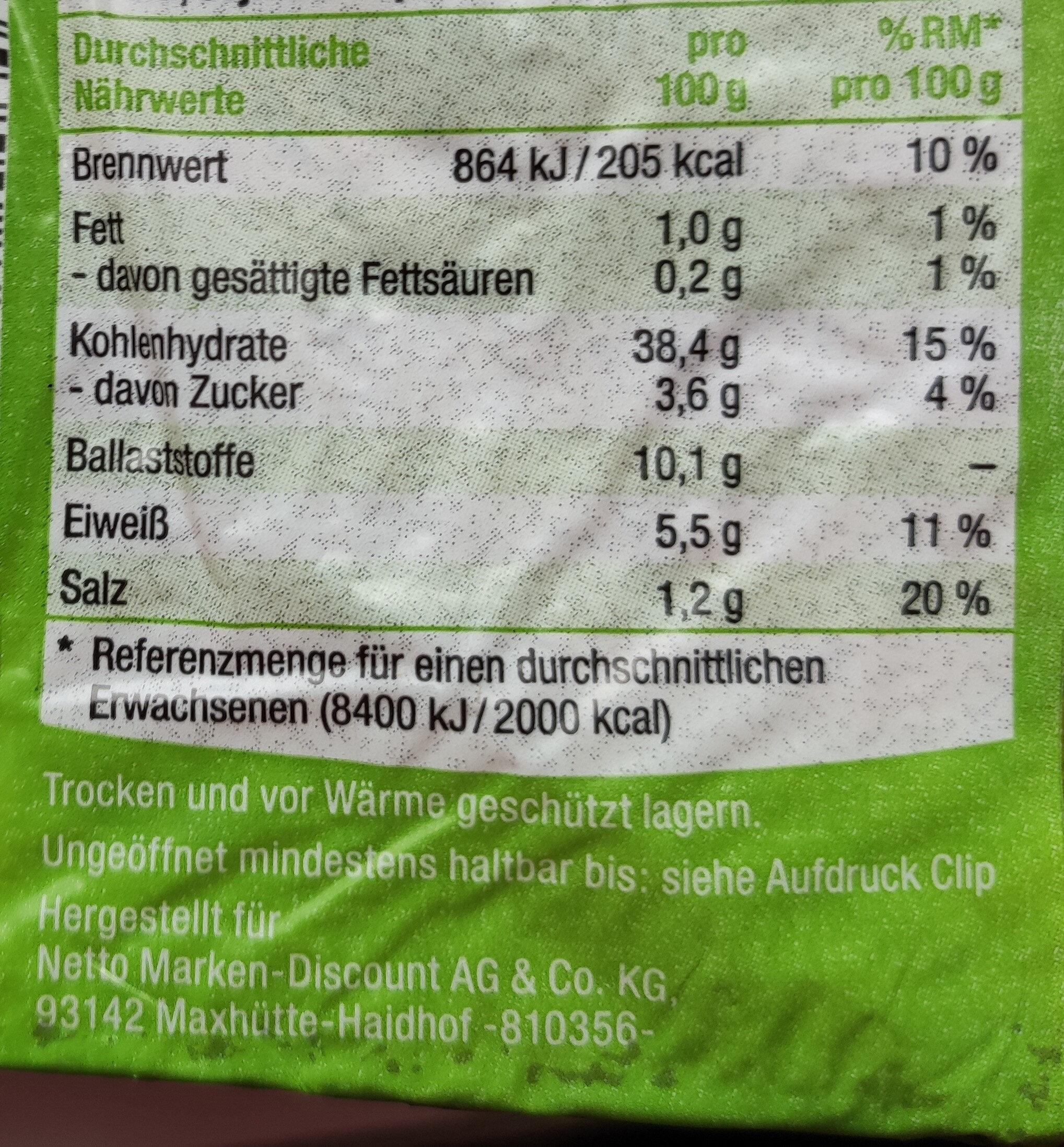 Roggenkaft - Informations nutritionnelles - de