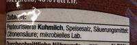 Mozzarella - Zutaten - de