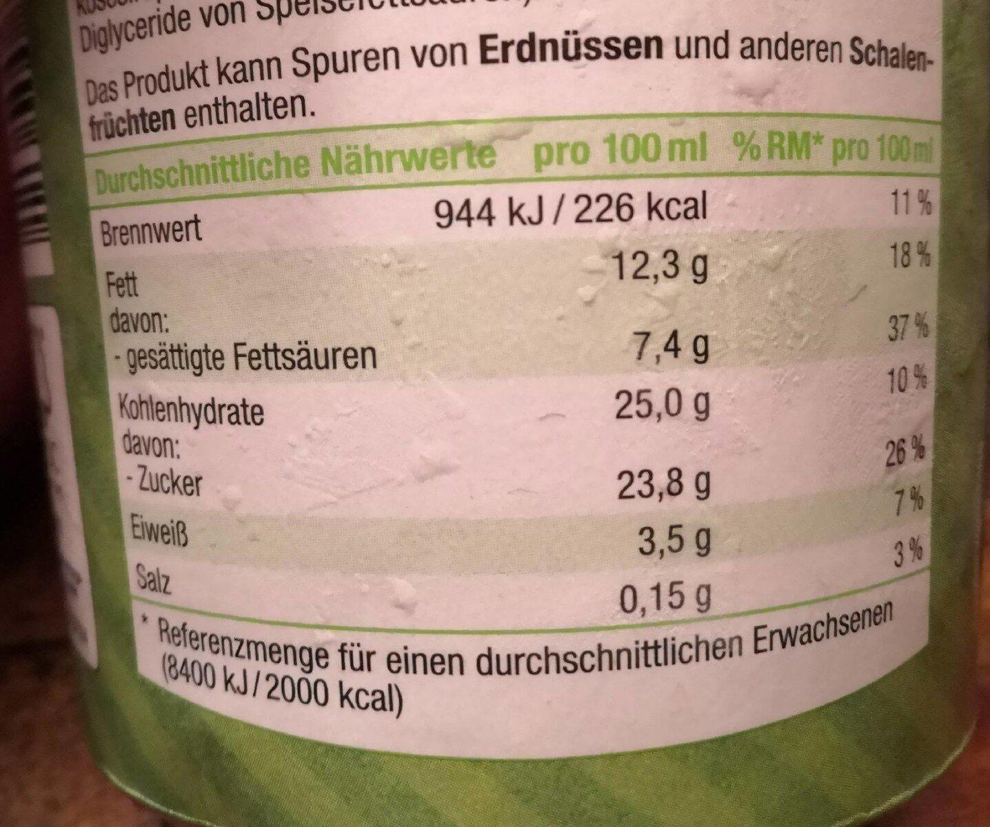 Crunchy Almond Karamell-Eiscreme - Nährwertangaben - de