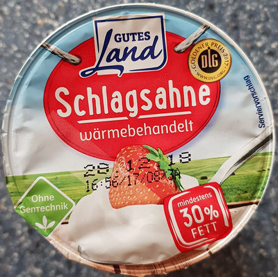 Schlagsahne wärmebehandelt 30% Fett - Product - en