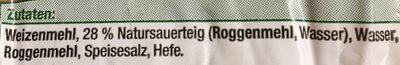 Roggen Mischbrot - Ingredients - de