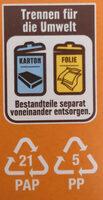 Vollmilch Ganze Mandel - Wiederverwertungsanweisungen und/oder Verpackungsinformationen - de
