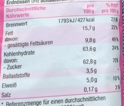 Schokolierte Rosinen - Valori nutrizionali - de