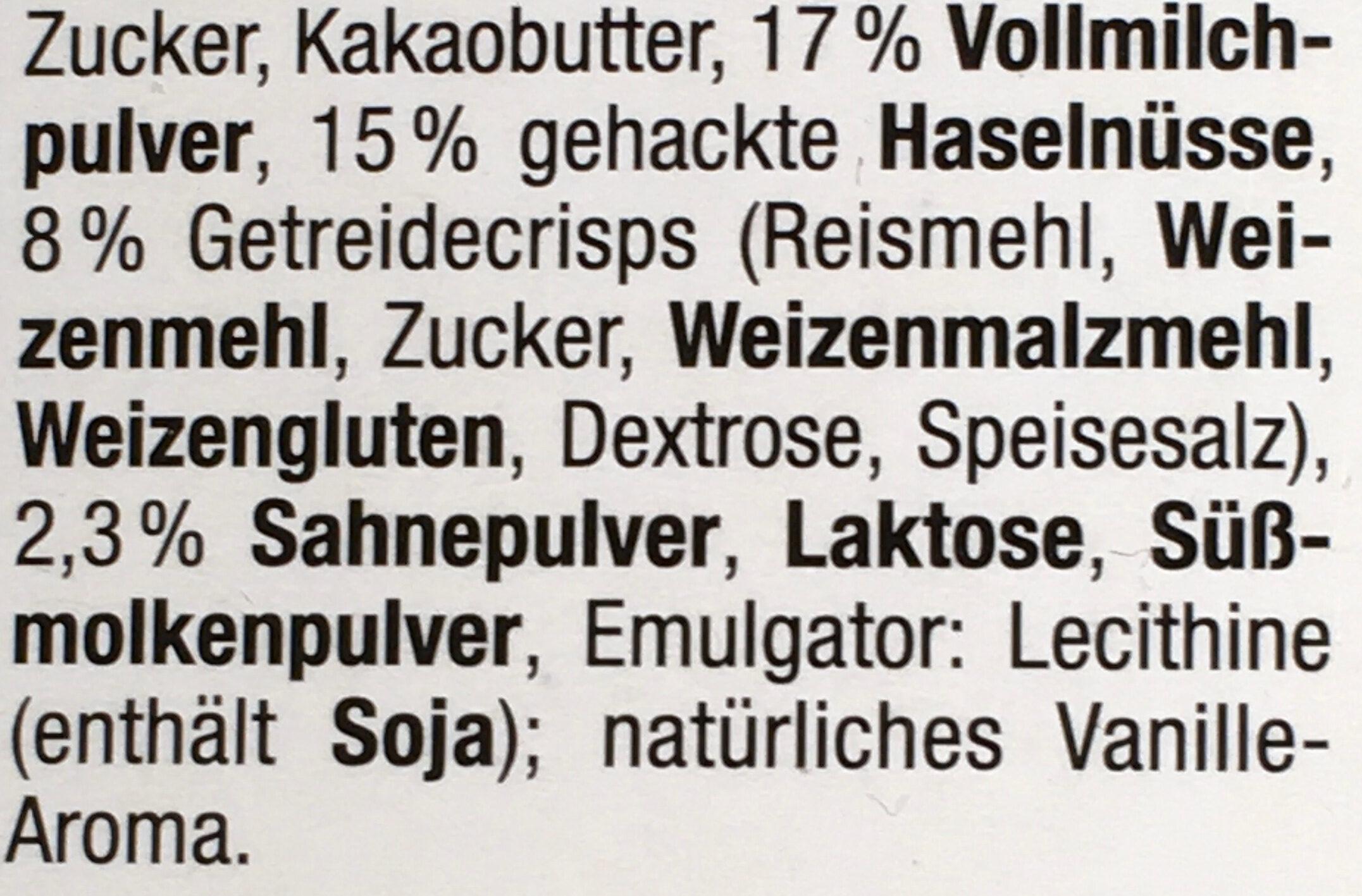 Weiße Crisp Schokolade - Ingrédients - de