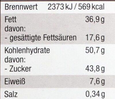 Weiße Crisp Schokolade - Informations nutritionnelles - de