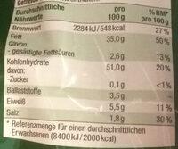 Clarkys Riffel Chips, gesalzen - Voedingswaarden - de